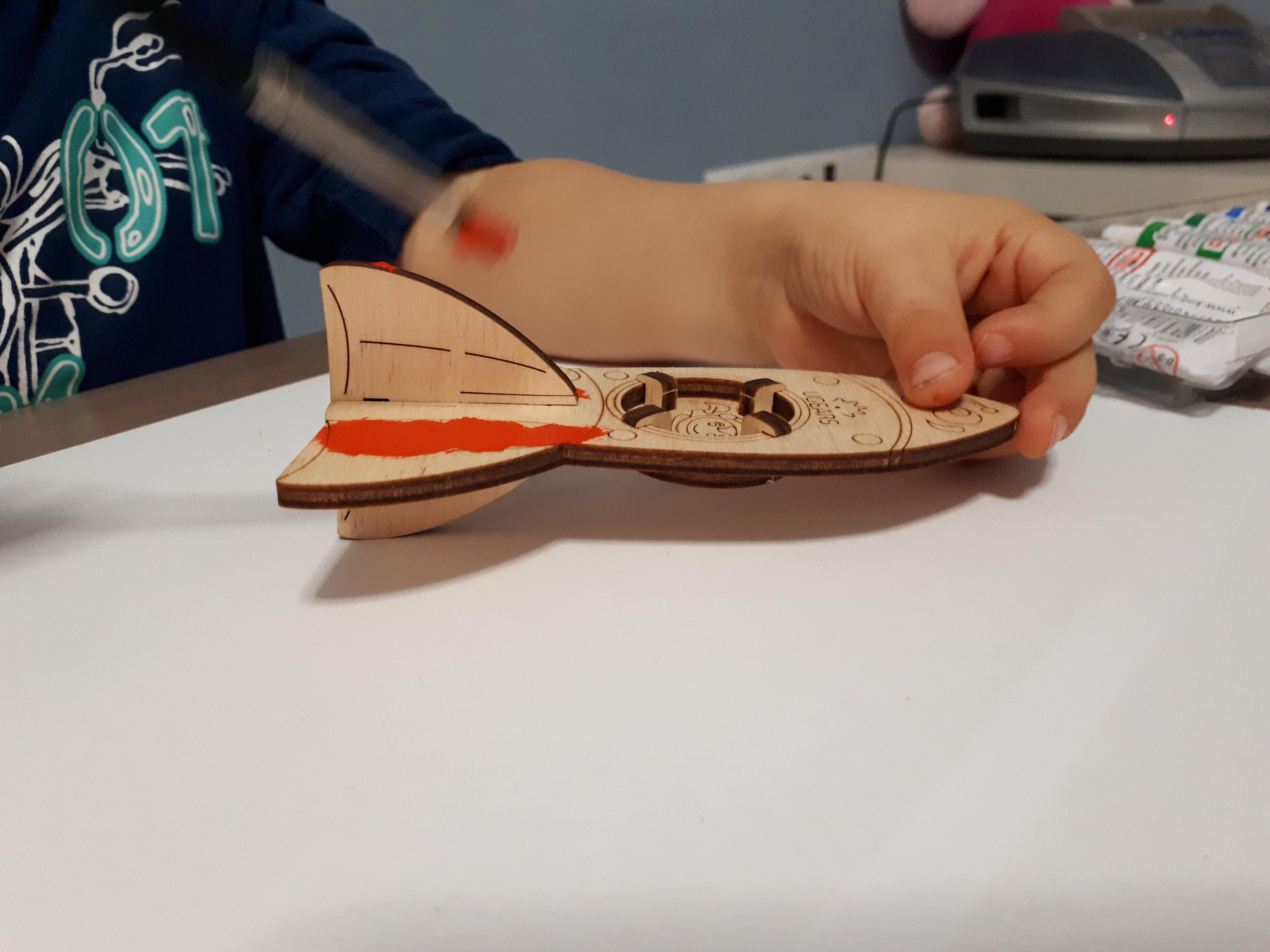 3D raketa Ugears